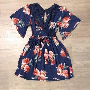 Abercrombie & Fitch Kimono Mini Dress